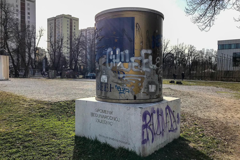 Icar, Ikar spomenik Sarajevo